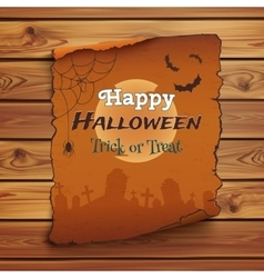 Happy halloween poster template vector