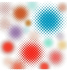 halftone set background eps 8 vector image
