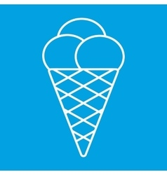 Ice cream thin line icon vector