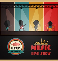 200concert stage vector image