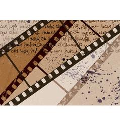 vintage film background vector image