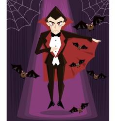 Dracula Halloween vector image