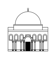 Temple icon israel culture design graphic vector