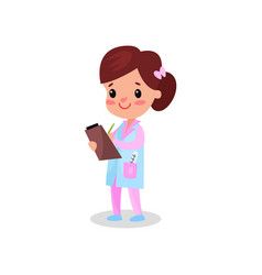 beautiful girl doctor in professional clothing vector image