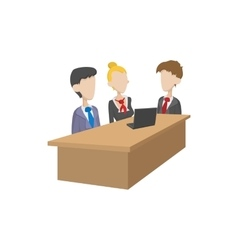 Business negotiations icon cartoon style vector image