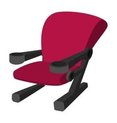 Cinema chair cartoon icon vector