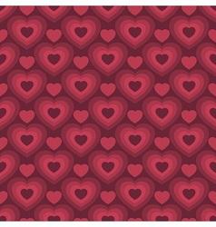 Dark red hearts vector image