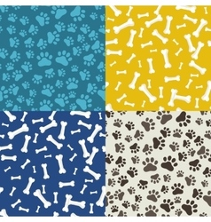 Dog Paw and bone anilams pattern vector image vector image