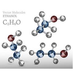 Ethanol molecule image vector