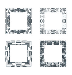 ethnic design decorative geometric frames set vector image vector image