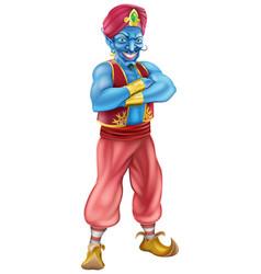 Evil genie standing vector