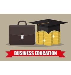 Globe graduation cap books diploma education vector image vector image