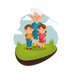 grandma and grandchildren design vector image
