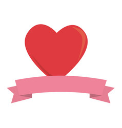 heart love romantic frame vector image