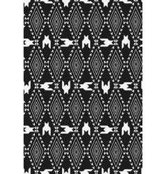 Houndstooth pied de poule seamless black and vector image vector image