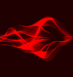 Modern background abstract red wave design vector