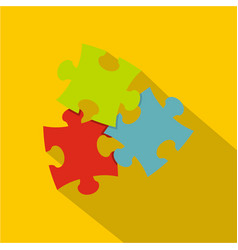 Puzzle icon flat style vector