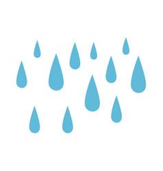 rain drops isolated icon vector image