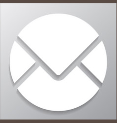 round envelope icon vector image