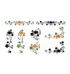 Set of pumpkin design elements vector image vector image