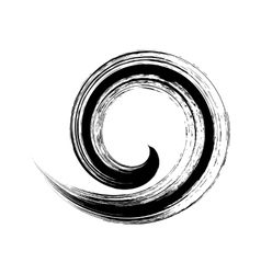 single brush stroke spiral vector image vector image