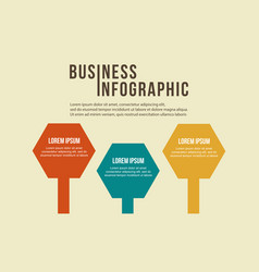 Step data concept business infographic vector
