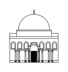 Temple icon israel culture design graphic vector