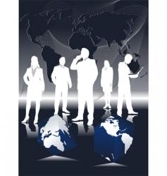 vector of business teem vector image
