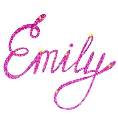 Emily name lettering tinsels vector image