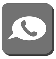 Phone message rounded square icon vector