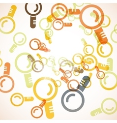 Abstract background magnifier vector