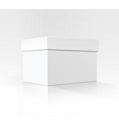 White Horizontal Carton box in Perspective vector image