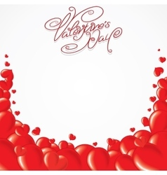 Valentines Day Template Card vector image