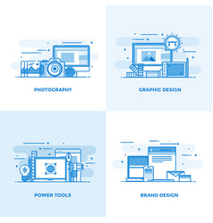 flat line designed concepts 3 vector image