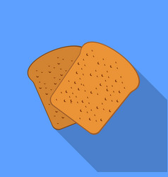 Bread icon of for web and vector