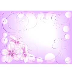 Abstract flower design vector