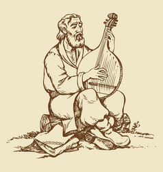 Ukrainian musician vector
