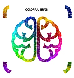Creative colorful left brain and right brain vector