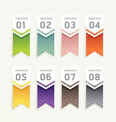 Progress banners with ribbon colorful tags vector