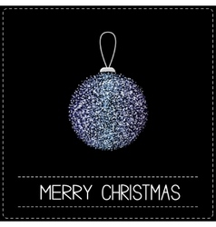 Christmas ball glitter violet blue merry vector