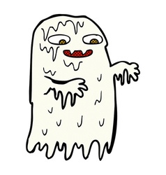 Comic cartoon gross slime ghost vector