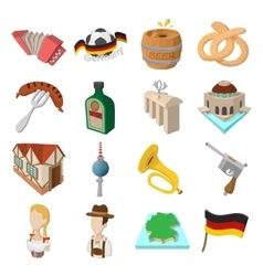 Germany cartoon icons vector