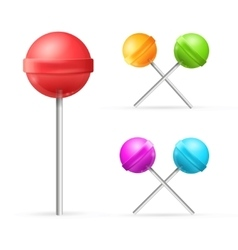 Set of different lollipops vector