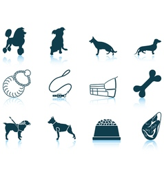 Set of dog breeding icons vector image
