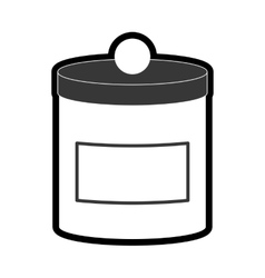 Food container icon jar design graphic vector