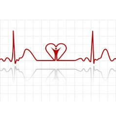 abstract ecg vector image vector image