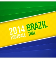 Abstract geometric background with Brazil flag vector image
