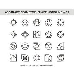 abstract geometric shape monoline 03 vector image