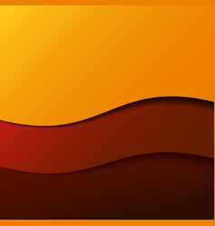 Abstract red wave background with stripes vector image