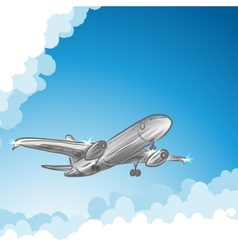 Airliner in sky vector image